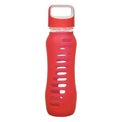 22 oz. Surf Single Wall Glass Bottle - Raspberry Pink