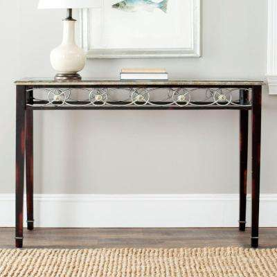 Lisa Antique Black Console Table