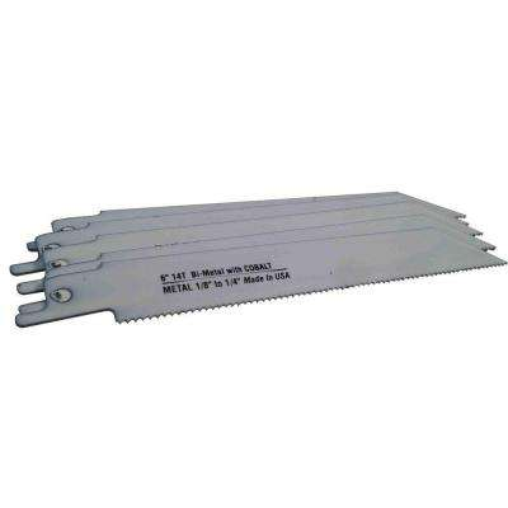 6 in. x 3/4 in. x 0.035 in. 14 Teeth per in. Metal Cutting Bi-Metal Reciprocating Saw Blade (5-Pack)