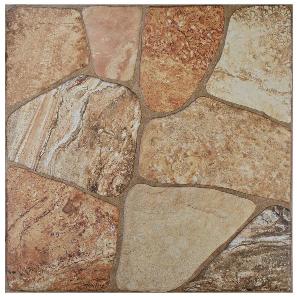 Merola Tile Lyon Beige 17-3/4 in. x 17-3/4 in. Ceramic Floor and Wall Tile (17.5 sq. ft. / case)
