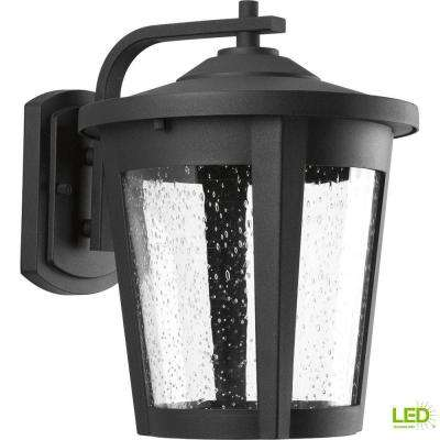 East Haven Collection 1-Light 12 in. Outdoor Black LED Wall Lantern