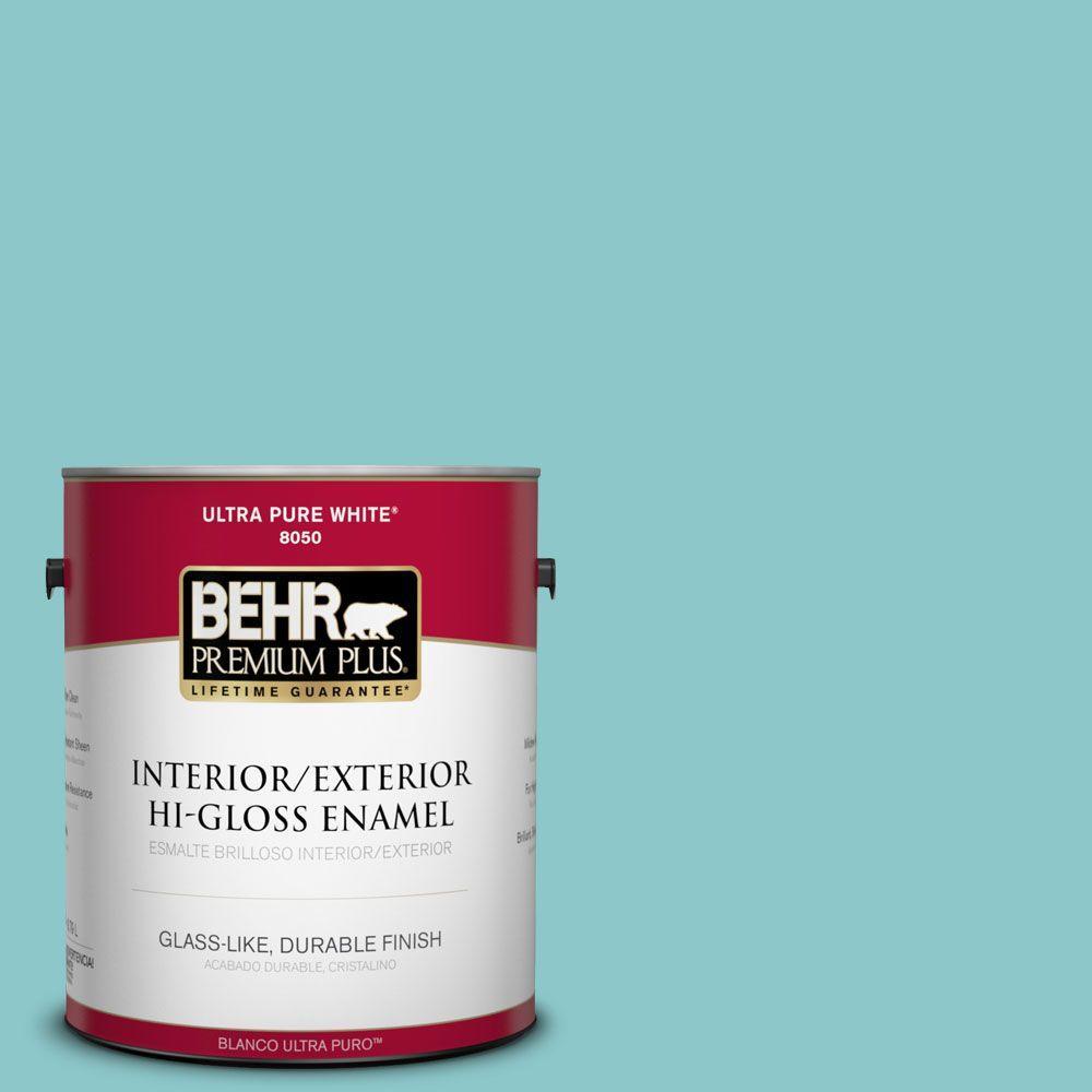 1-gal. #510D-4 Embellished Blue Hi-Gloss Enamel Interior/Exterior Paint