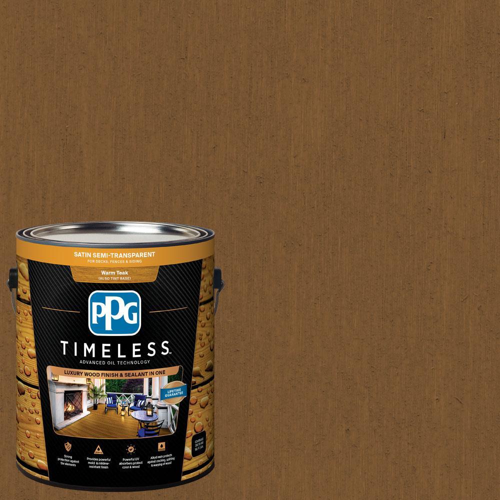 1 gal. TSN-11 Ginger Brown Satin Semi-Transparent Advanced Oil Exterior Wood Stain