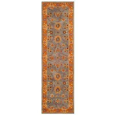 Heritage Blue/Orange 2 ft. 3 in. x 10 ft. Runner