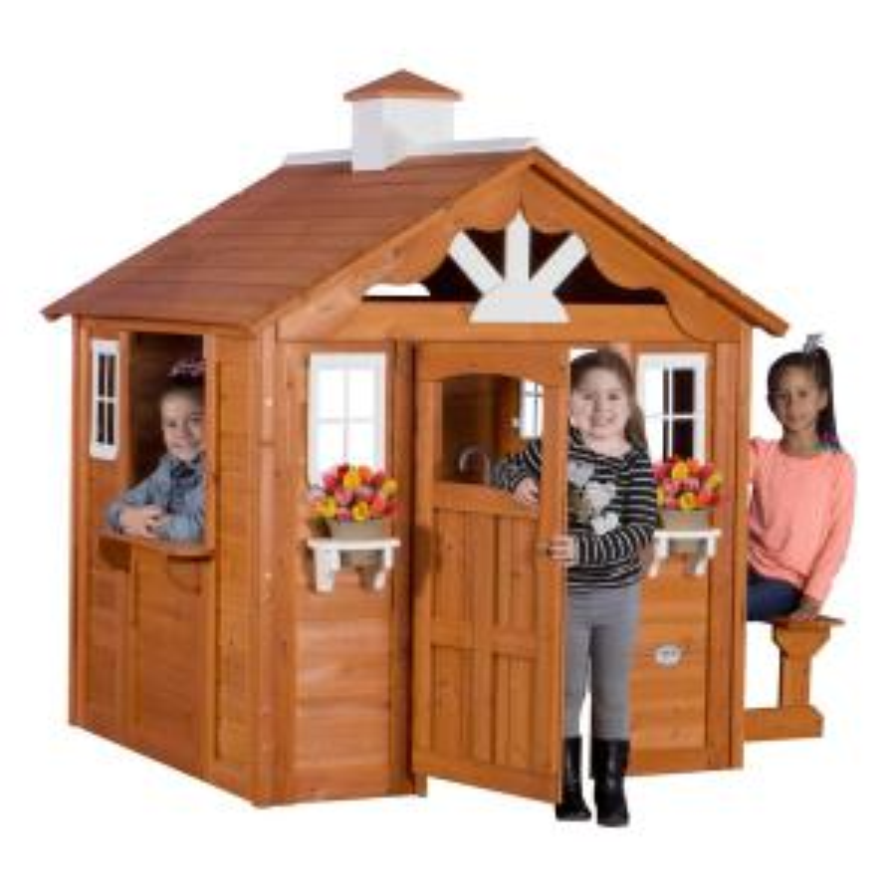 Backyard Discovery Summer Cottage All Cedar Playhouse ...