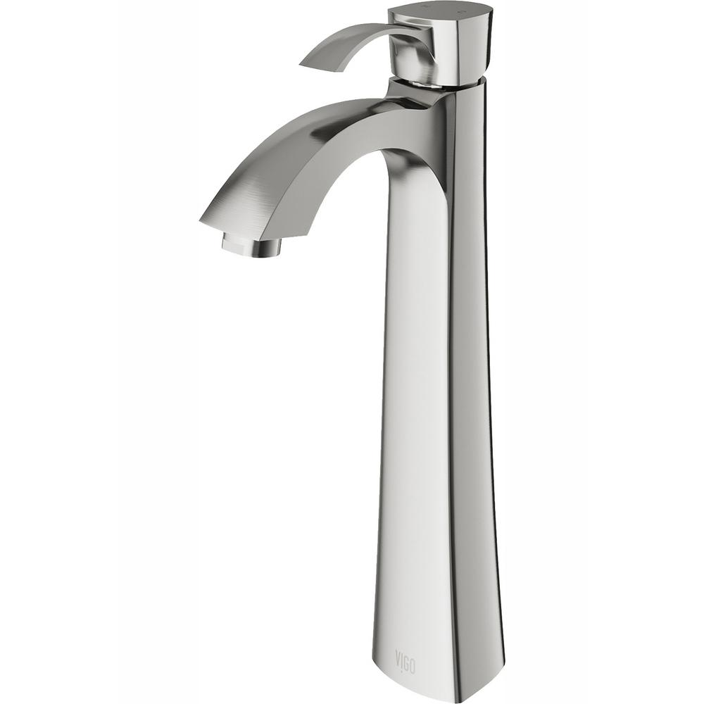 VIGO Otis Single Hole 1-Handle Bathroom Faucet in Brushed Nickel