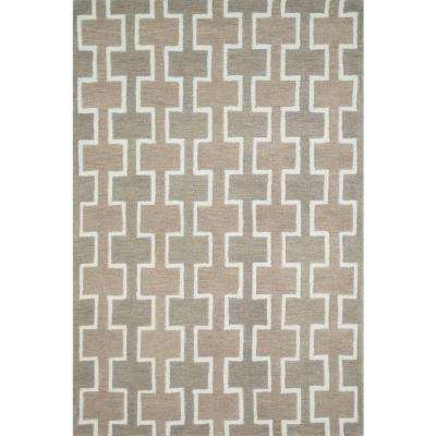 Weston Lifestyle Collection Beige 5 ft. x 7 ft. 6 in. Area Rug