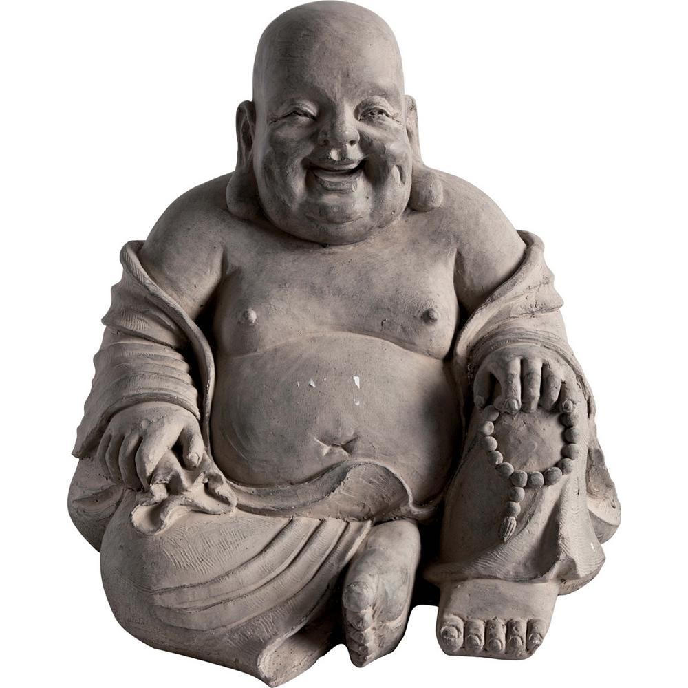 Ancient Seated Cement Buddha Garden Statue