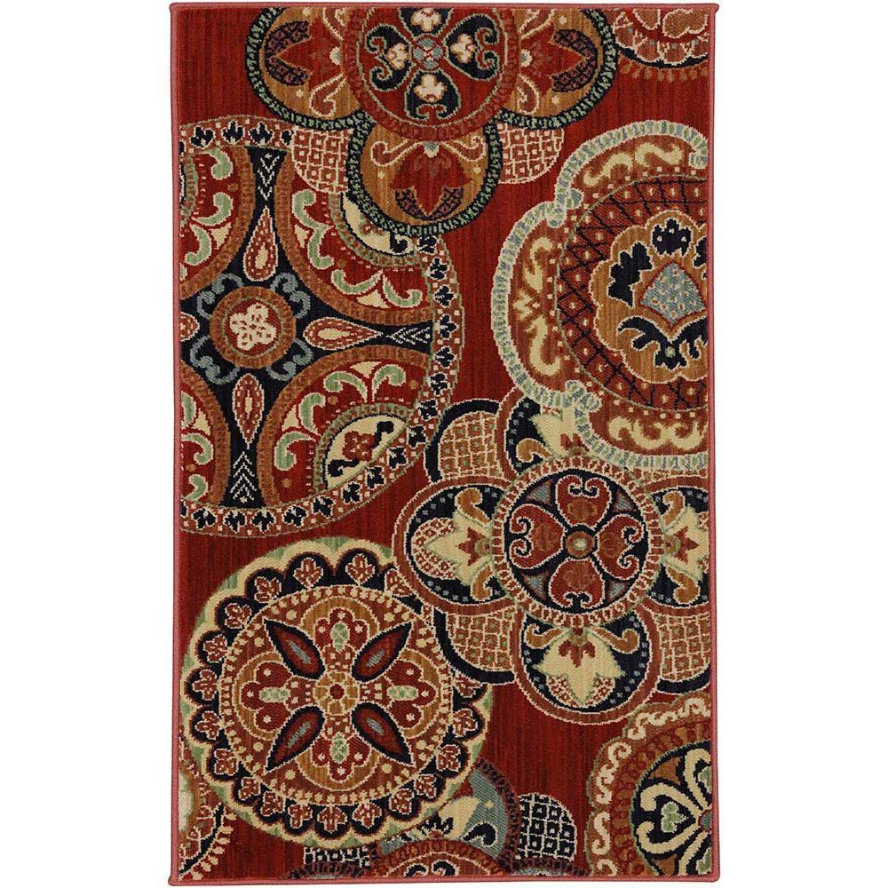 Karastan Chesterfield Red 2 ft. 6 in. x 4 ft. Accent Rug