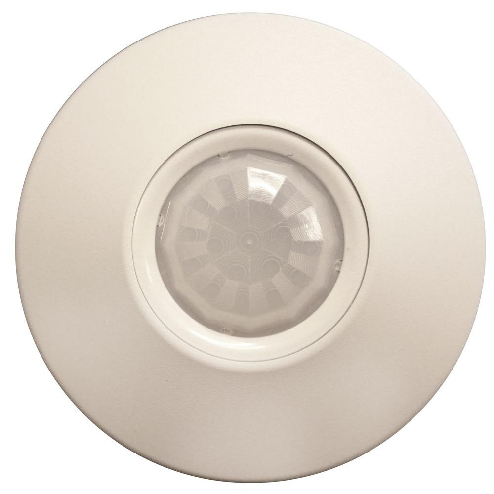 Ceiling Mount 360° Standard Range Small Wireless Motion Sensor, White
