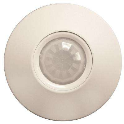 Ceiling Mount 360 Degree Standard Range Small Wireless Motion Sensor, White