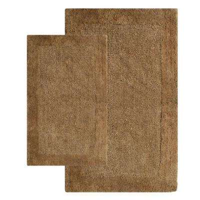 Bella Napoli Linen 21 in. x 34 in. and 24 in. x 40 in. 2-Piece Bath Rug Set