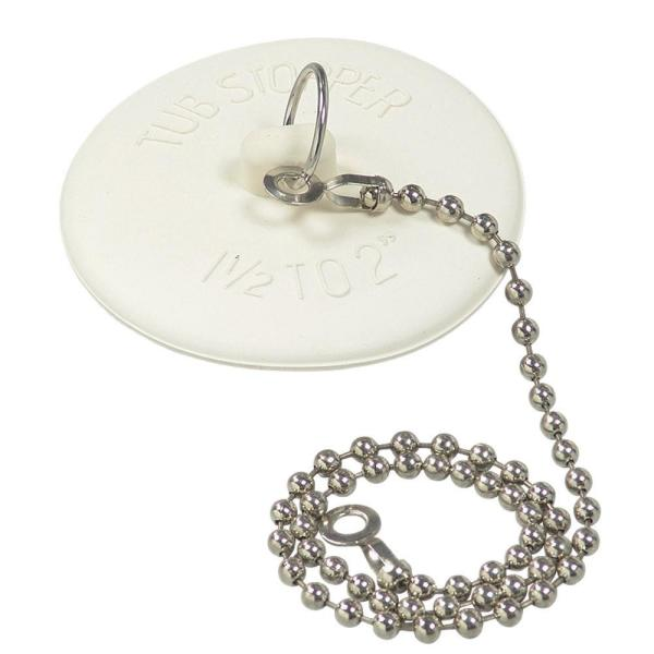 1-1/2 in. - 2 in. Universal Tub Stopper with Chain
