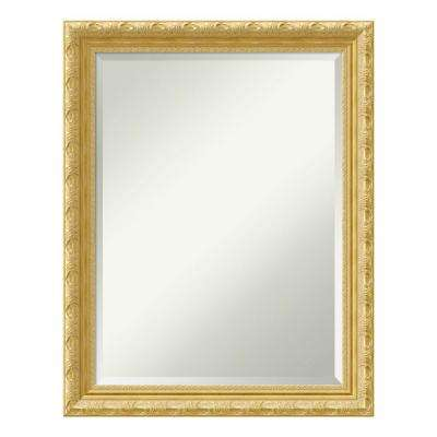 Versailles Gold Wood 22 in. x 28 in. Traditional Bathroom Vanity Mirror