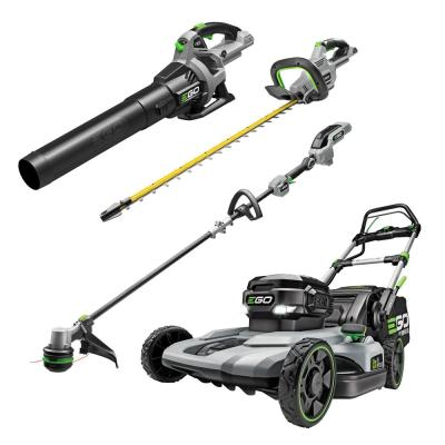 56V Lith-Ion Cordless 21 in. Self Propelled Mower/Blower/Hedge/Trimmer Combo Kit (2-Tools) 7.5 Ah Battery and Charger