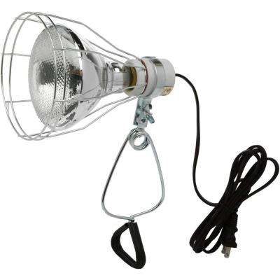 150-Watt 6 ft. 18/2 SPT-2 Incandescent Portable Clamp Work Light with Open Metal Grill Guard