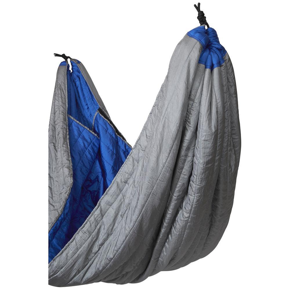 8 ft. Portable Nylon Sleeping Bag Hammock Bed in Blue