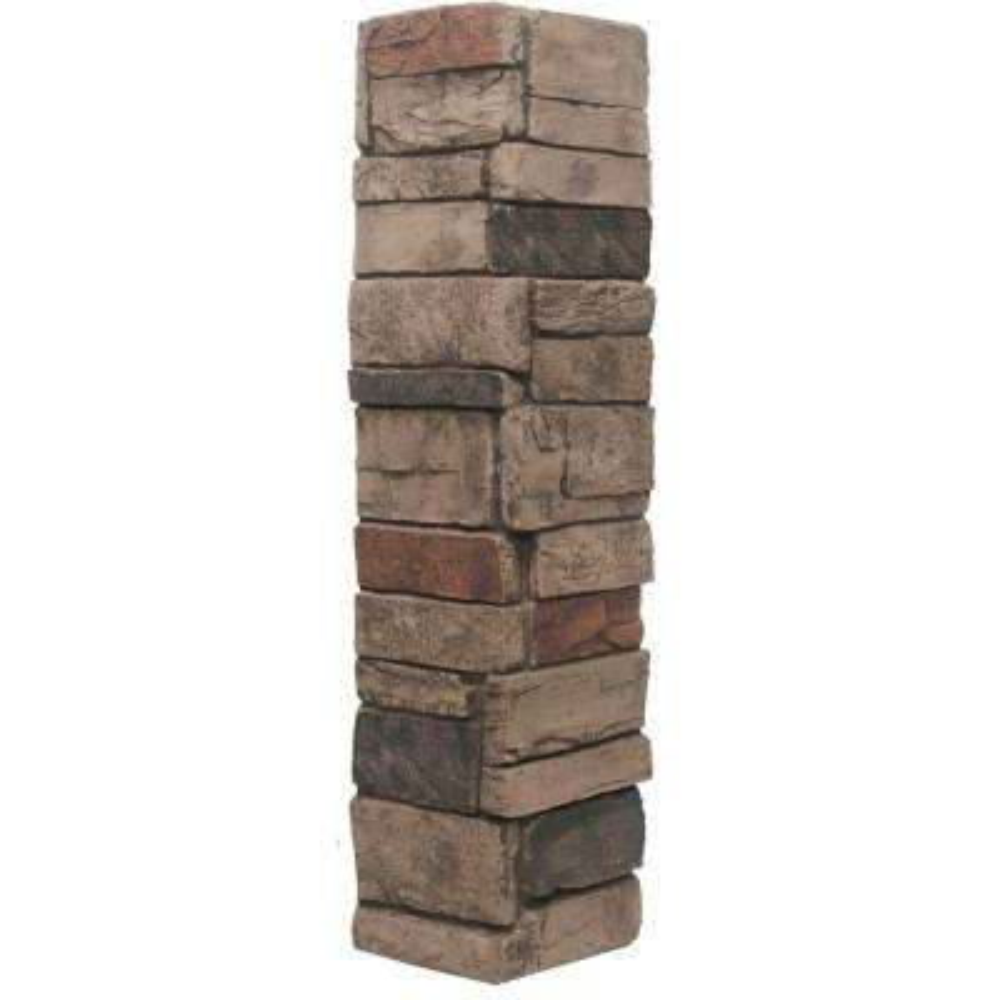 Ledgestone Keyless Corner #25 Mocha 6.3 sq. ft. Stone Veneer (2-Pack)