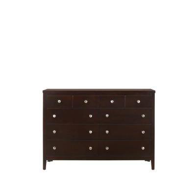 Luke 8-Drawer Antique Black Dresser