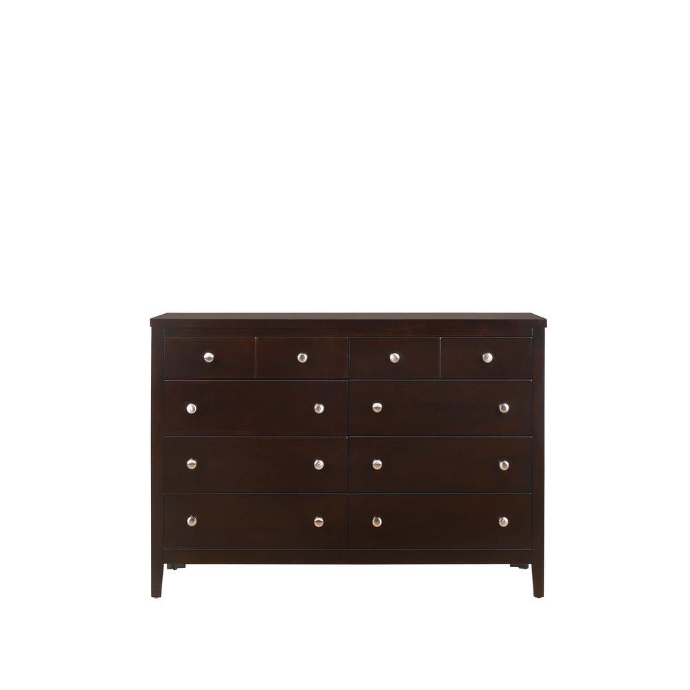 Luke 8-Drawer Antique Black Dresser