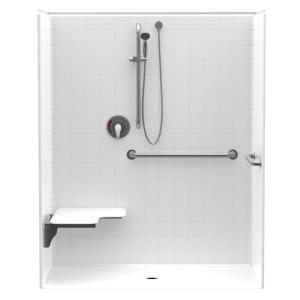 Aquatic Accessible Smooth Tile Acrlyx 60 In X 34 In X 74