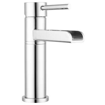 Lakewood 4 in. Centerset Single-Handle Multi-Tiered Cascading Waterfall Bathroom Faucet in Chrome