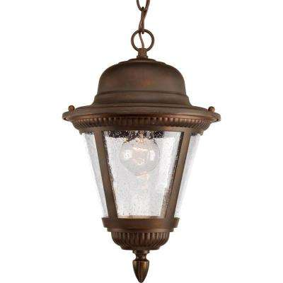 Westport Collection 1-Light Antique Bronze Outdoor Hanging Lantern