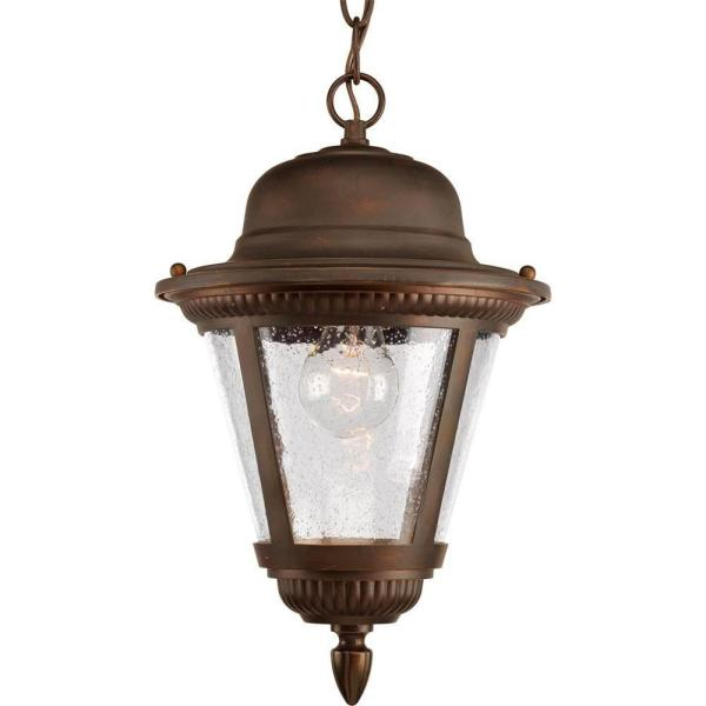 Westport Collection 1-Light Antique Bronze Outdoor Hanging Lantern