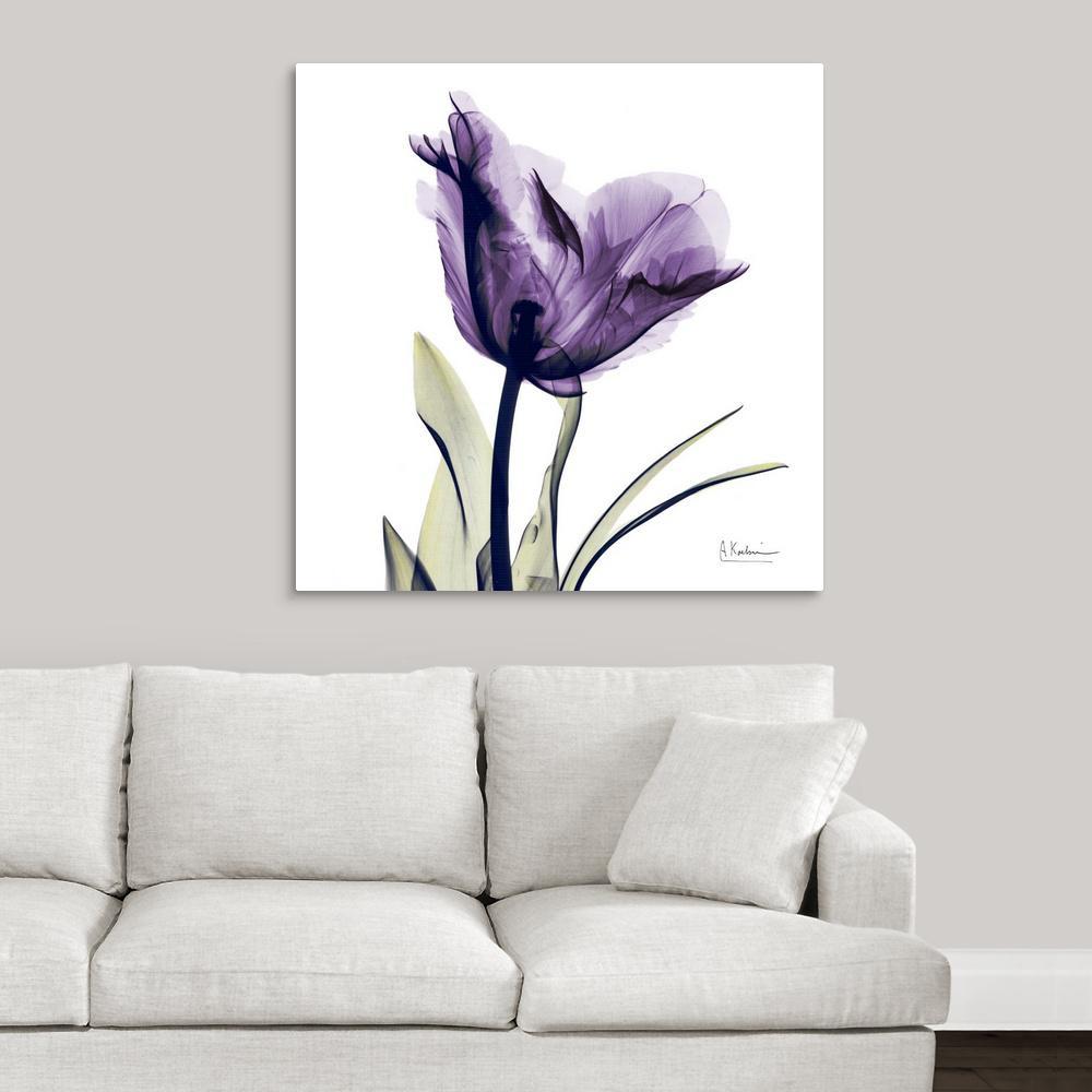 Purple Flower By Albert Koetsier Canvas Wall Art