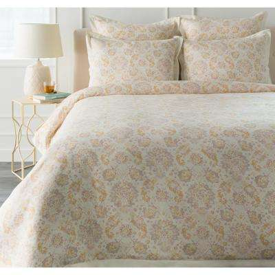 Dalia Yellow Twin Duvet Set
