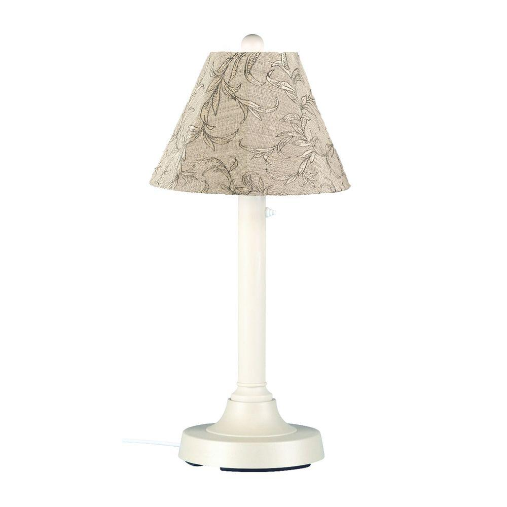 San Juan 30 in. White Outdoor Table Lamp with Bessemer Shade