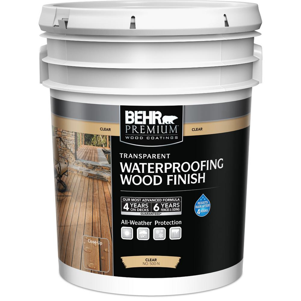 5 ga gallon wood deck stain exterior stain waterproofing the home depot for Exterior waterproofing products