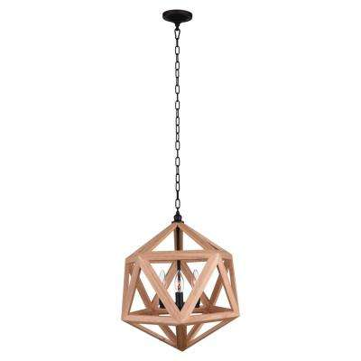 Lante 3-Light Black Chandelier