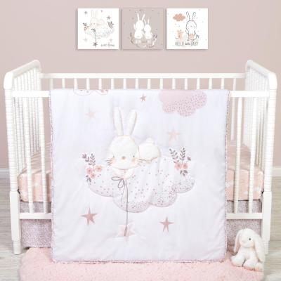 Cottontail Cloud 4-Piece Crib Bedding Set