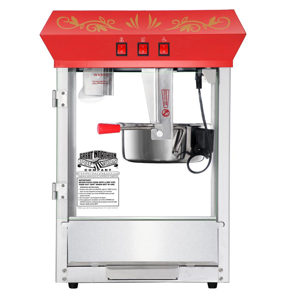 Great Northern Foundation 4 oz. Red Countertop Popcorn Machine