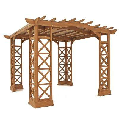 Preston 12 ft. x 12 ft. Pergola with Snap-On Sunshade