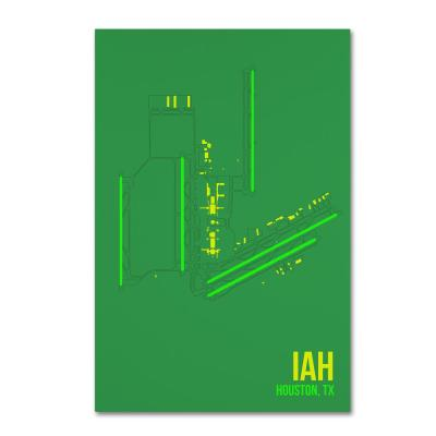 """16 in. x 24 in. """"IAH Airport Layout"""" by 08 Left Canvas Wall Art"""