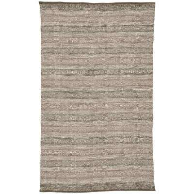 Morganite Taupe 2 ft. x 3 ft. Geometric Rectangle Indoor-Outdoor Accent Rug