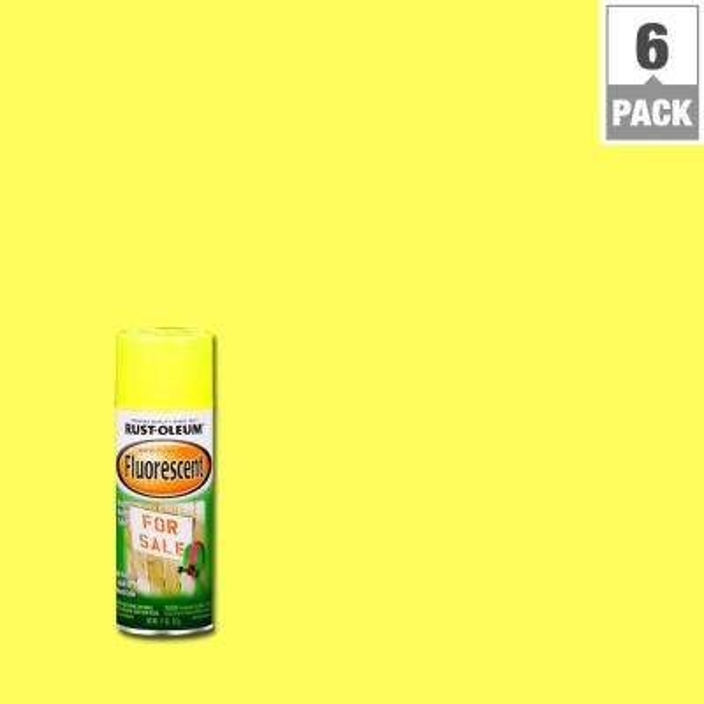 11 oz. Fluorescent Yellow Spray Paint (6-Pack)