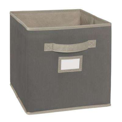 10.5 in. W x 11 in. H x 10.5 in. D Gray Fabric Drawer