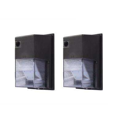 20-Watt Integral LED Wall Pack, 2500 Lumens, Dusk to Dawn Outdoor Light with Photocell (2-Pack)