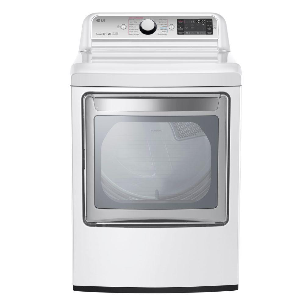 LG 7.3 cu. ft. Gas Dryer with Turbo Steam in White