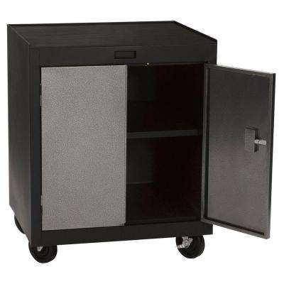 30 in. H x 28 in.W x 22 in. D Steel Mobile Storage Cabinet in Multi Granite