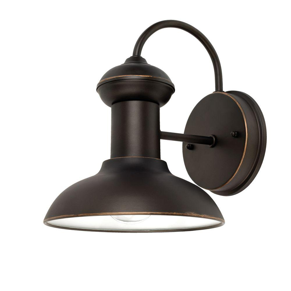 Globe Electric Martes 10 In Oil Rubbed Bronze Downward Indoor Outdoor Wall Sconce Light 40190