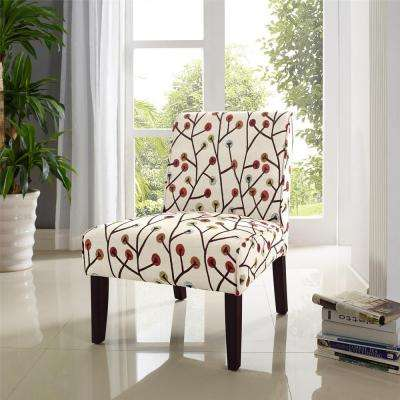 Teagan Armless Floral Accent Chair