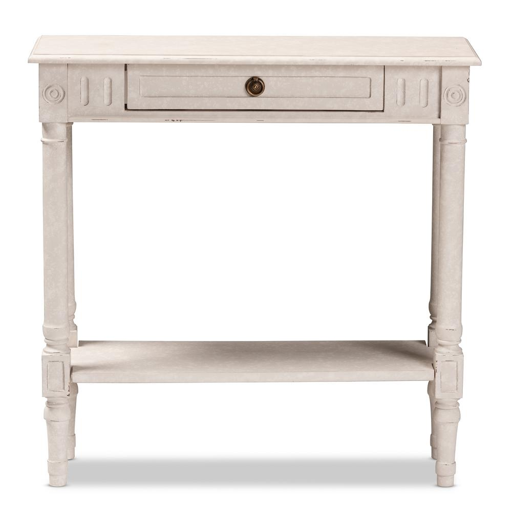 Baxton Studio Ariella Whitewashed Small Console Table