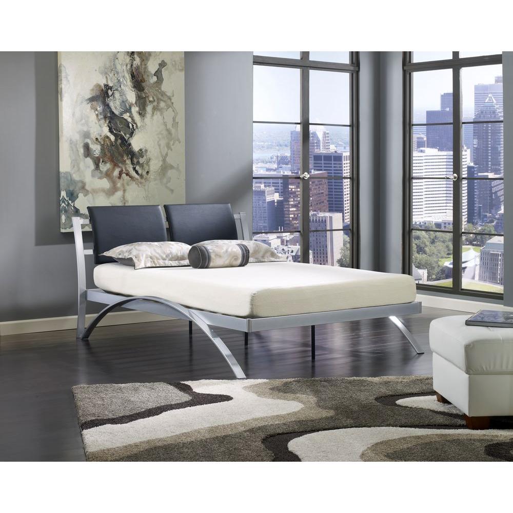 rest rite city view silver full platform bed - Metal Platform Bed Frame Full