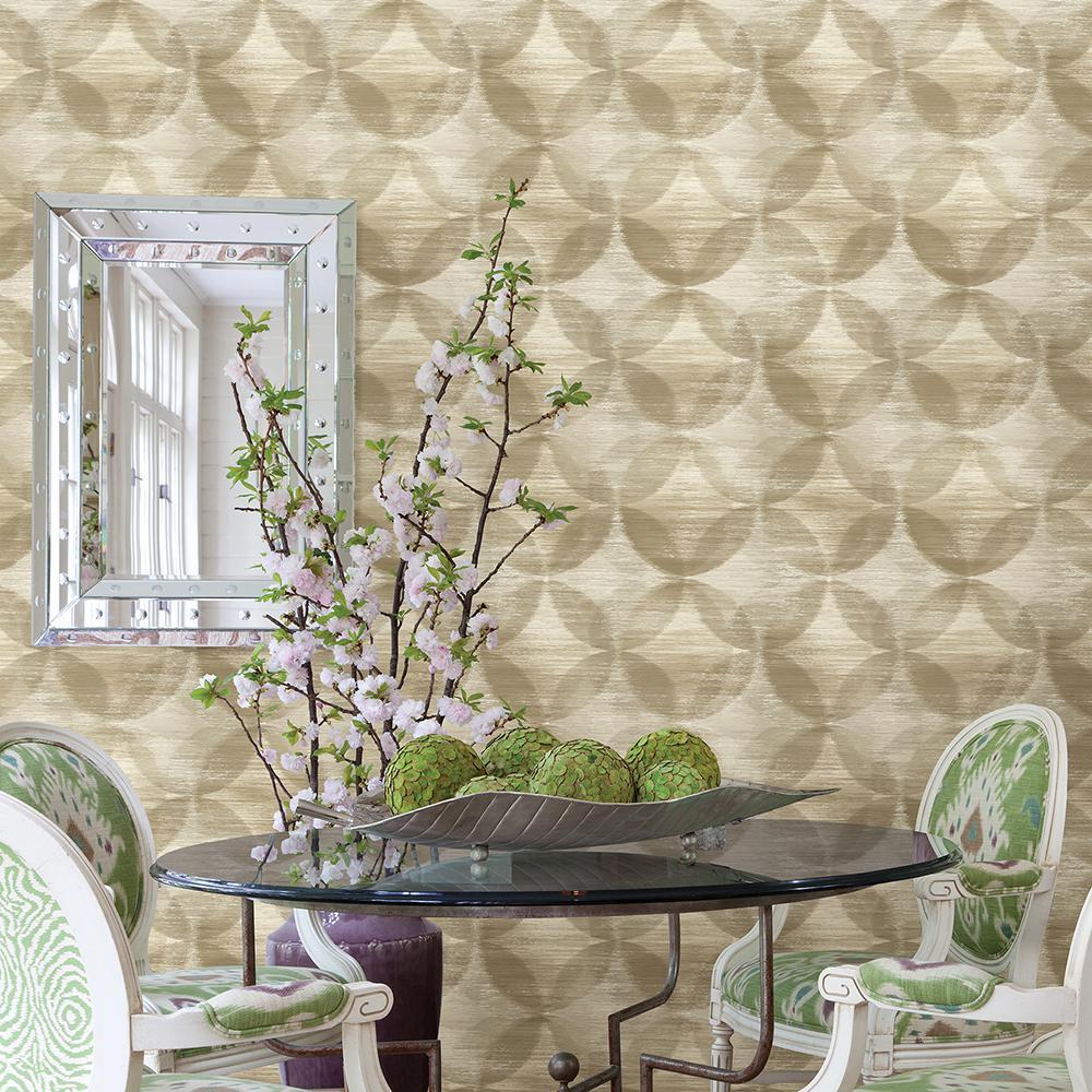 A-Street 56.4 sq. ft. Alchemy Honey Geometric Wallpaper