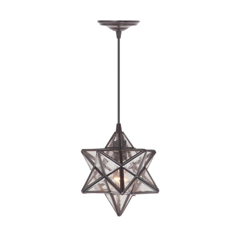 Home Decorators Collection Moravian 1-Light Bronze Pendant