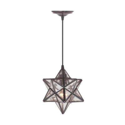 Moravian 1-Light Bronze Pendant